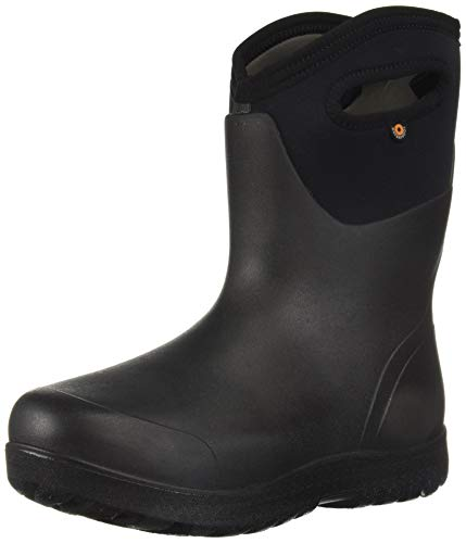 Bogs Women's NEO-Classic Snow Boot, mid black, 7 Medium US