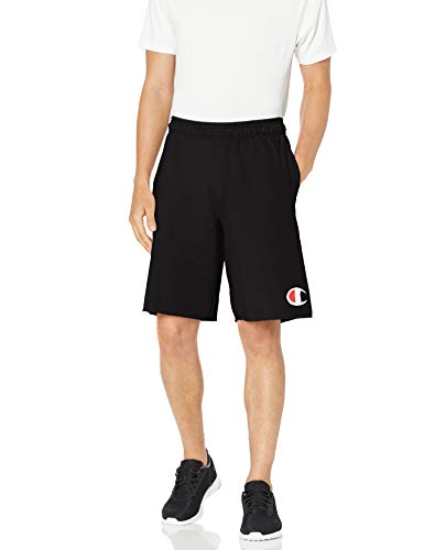 Champion Men's Graphic Powerblend Fleece Short, Black, X-Large