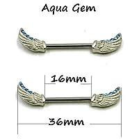 Row&lingcBOG-1ペア316l外科鋼バーベルピアスローズフラワー乳首リングバーボディジュエリーボディピアス リング