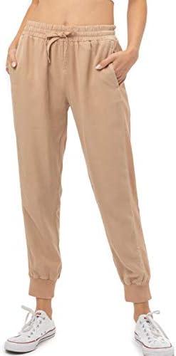 FASHION BOOMY Women's Linen Jogger Pants...