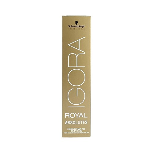 Schwarzkopf IGORA Royal Absolutes Permanent Anti-Age Color Creme 4-60 mittelbraun schoko natur, 1er Pack (1 x 60 ml)
