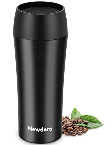 Newdora Termo Cafe, 380ml sin BPA Botella Agua de Acero Inoxidable, Fácil de limpiar y llevar, Adecuado para Uso en Trabajo o hacer deportes,Taza Termica reutizable y conveniente para el aire libre