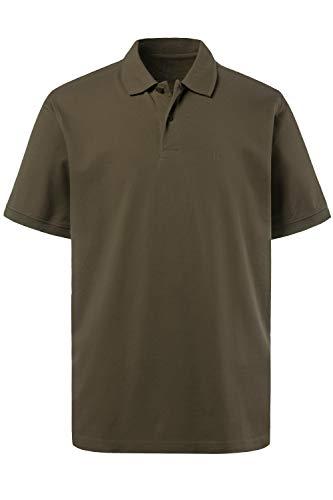 JP 1880 Herren große Größen bis 8XL, Poloshirt, Oberteil, Knopfleiste, Hemdkragen, Pique, Khaki 4XL 702560 44-4XL