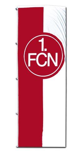 Hissfahne 1.FCN 150cm x 400 cm rot-weiß