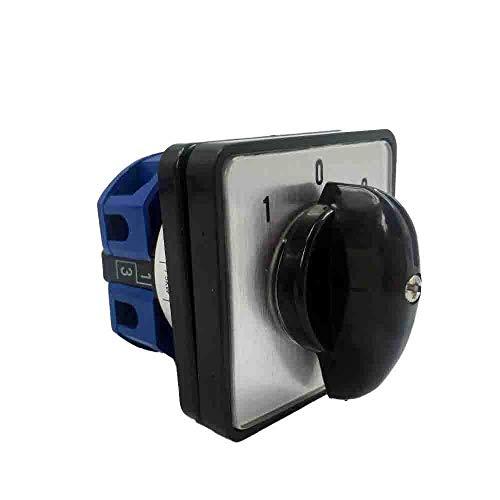 LW26 YMW26-25/1 Interruptor giratorio de 3 posiciones, 102 botones, interruptor de leva de palanca, 25A, 1 fase, 4 terminales, contacto de plata