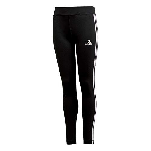 adidas Kinder Leggings Training Equipment 3-Streifen Tight, Schwarz/Weiß, 8-9A, DV2755