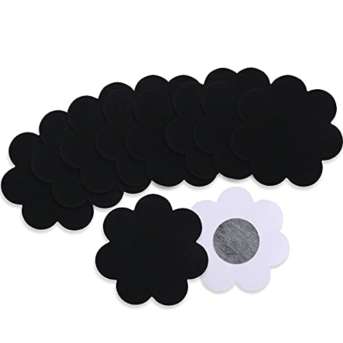 YouGa Donna Copricapezzoli usa e getta - raso pasties al seno taglia unica 10 * fiore nero