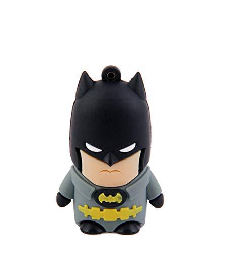 Clés USB Disque U Memory Stick USB2.0 Gel De Silice Les Vengeurs Super Héros Personnalité Mode Cadeaux De Noël Clé USB 4 Go-128 Go (8GB,Batman)