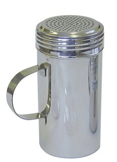 16oz Dredger Shaker Stainless Steel for Sugar Flour Cappuccino Chocolate