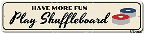 niet hebben meer leuk spelen Shuffleboard Wall Tin Teken Vintage IJzeren Schilderen Plaque Metalen Blad Retro Gepersonaliseerde Ambachten Waarschuwing Poster Creativiteit Decoratie Art Voor Cafe Bar Garage Cave Man Home