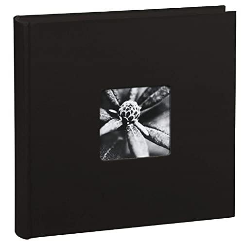 Hama Fotoalbum Jumbo 30x30 cm (Fotobuch mit 100 schwarzen Seiten, Album für 400 Fotos zum...