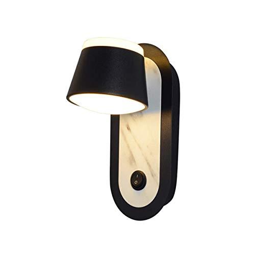 ZHANGYY Lámpara de Pared LED de Metal Redonda Moderna con Interruptor Lámpara de Pared Lámpara de Lectura Lámpara de cabecera ¿Luz Blanca cálida?9 cm Dormitorio Restaurante Estudio Cocina