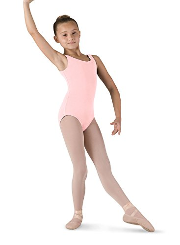 Bloch Dance Mädchen Tutu Scoop vorne und hinten Tank Gymnastikanzug, Damen Mädchen, Hellrosa Farbe, 6X-7