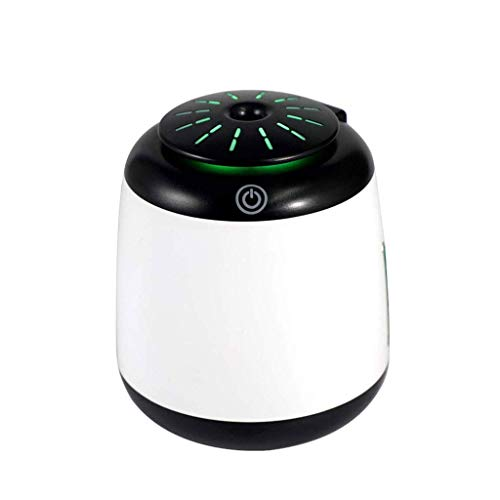 LuoMei Humidificador de Coche Usb Difusor 340Ml Cool Mist Humidificador Potable Purificador Ultrasónico de Refresco de Aire Funcionamiento Silencioso para Viajes, Hogar, Oficina Y Coche