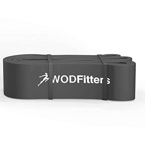 WODFitters Pull Up Assistance Band for Stretching, Mobility Workouts, Warm Up, Recovery, Powerlifting, Home Fitness and Exercise (#6 Grey)