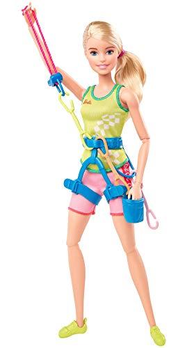Barbie GJL75 Berufe Sport bewegliche Kletter Puppe, Geschenk und Spielzeug ab 3 Jahren