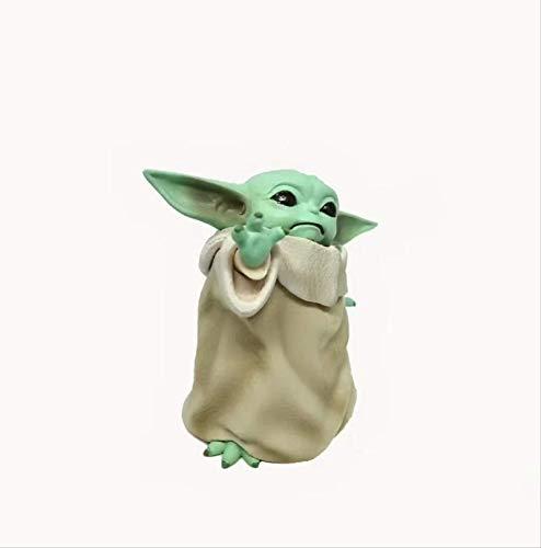 bolin 8cm Star Wars A Baby Yoda Master Action Figure Q Muñeca PVC Modelo Juguete Coche Posando Regalo
