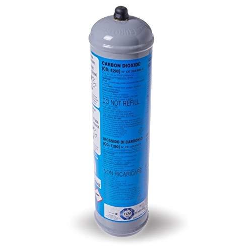 BOMBOLA CO2 USA E GETTA 600 Grammi E290 ALIMENTARE PER GASATORI ACQUA ATTACCO 11 x 1 DIMENSIONI.BOMBOLA DN 70 MM H 325 MM