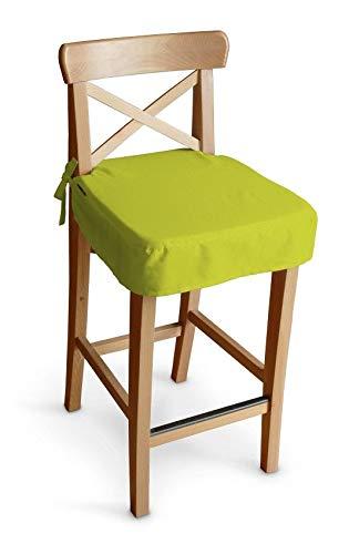 Dekoria Sitzkissen für Barhocker Ingolf Stuhlbezug Stuhlkissen passend für IKEA Modell Ingolf Limone