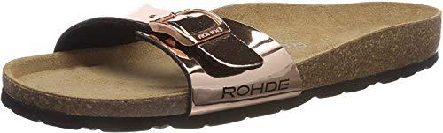 Rohde Damen Alba Pantoletten, 5635 (6.5 UK) Braun, Braun (Kupfer), 40 EU