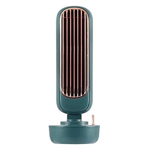 Ventilador Humidificador de Aire Acondicionado Portátil USB Multifunción Enfriador de Aire Ventiladores de Pulverización Silenciosos para Oficina en Casa,Green