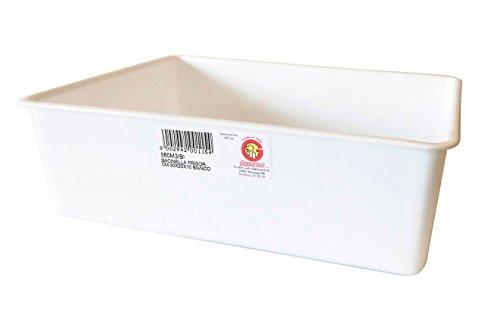 Vaschetta della Giganplast idonea per il trasporto e l'esposizione degli alimenti, Misura/e - cm 30x20 h.10 - 4 Litri
