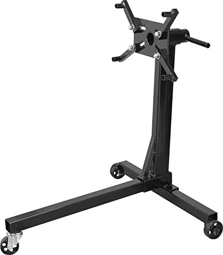 Torin AT23401B Steel Rotating Engine Stand with 360 Degree Rotating Head: 3/8 Ton (750 lb) Capacity, Black