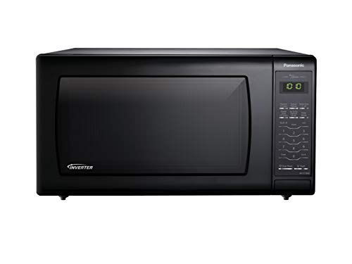 Panasonic NNST766B Family Size 1.6 cft. 1200W Genius Inverter Microwave Oven, Black, Black