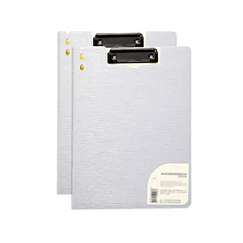 YIXIN2013SHOP Tavoletta Portablocco 2 Pack File di archiviazione File Folder 360 Gradi Cover espandibile Appunti Segnala Presentazione Binder Forniture per Ufficio (Nero/Blu/Rosso/Argento) Clipboard