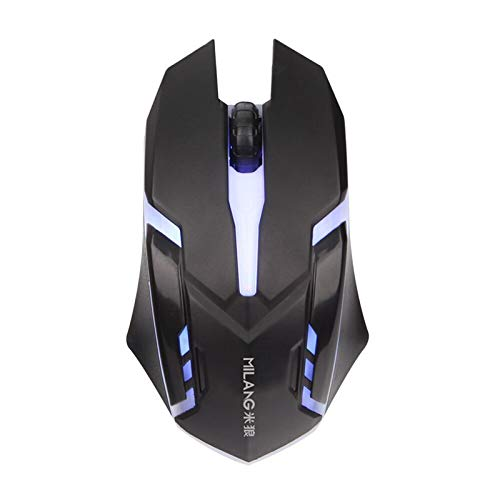 Ergonomic Wired Gaming Mouse Button LED 2000 DPI USB Computer Mouse with Backlight for PC Laptop Gamer Mice S1 Silent Mause New (Black)