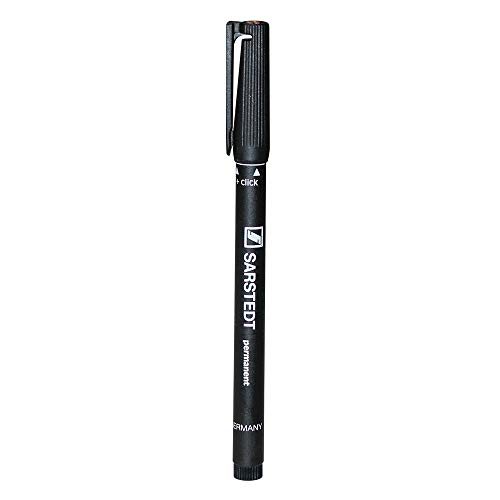 Sarstedt Waterproof Lab Marker with Fine Tip, Black