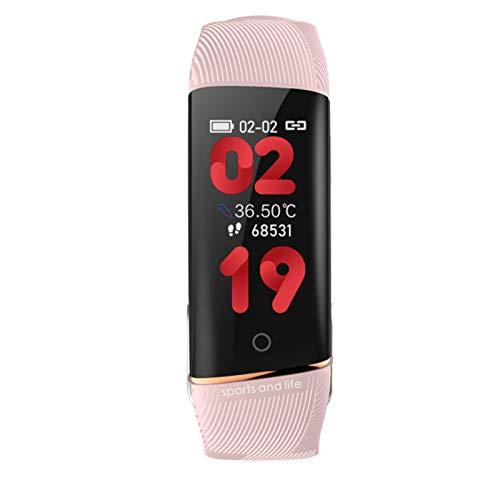 Adecuado Para Android Ios, E98 Medición De Temperatura De Reloj Inteligente, Rastreador De Fitness De Frecuencia Cardíaca, Podómetro, Monitoreo Del Sueño, Pulsera Inteligente Para Hombres Y Mujeres,B