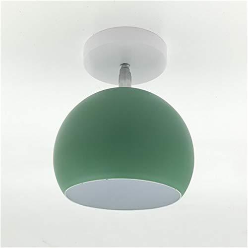 Lámpara de techo LED giratable E27 moderna de la luz de techo de hierro redondo creativo para el apartamento interior de Aisle Cafe Green