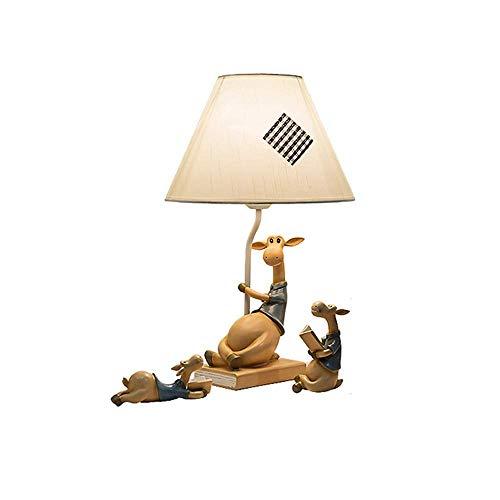 JCXOZ-Lámpara de Mesa Vector Lámpara Padre-Hijo Ciervos LED Luz de Noche romántica Creativa del hogar cálido Dormitorio Retro Sala de Estar