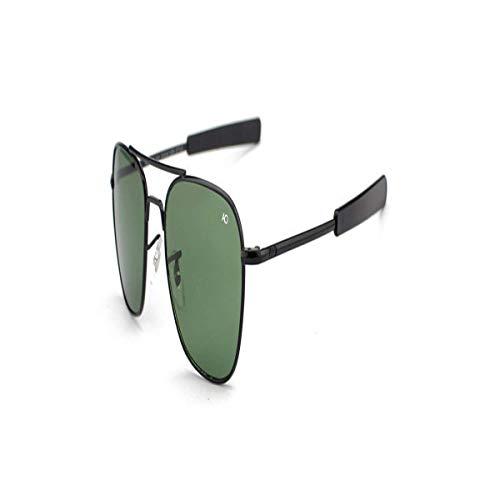 Daawqee Gafas de sol,Gafas para fiestas, Aviation Sunglasses Men AO Sun Glasses For Male American Army Military Optical Glass Lens Oculos