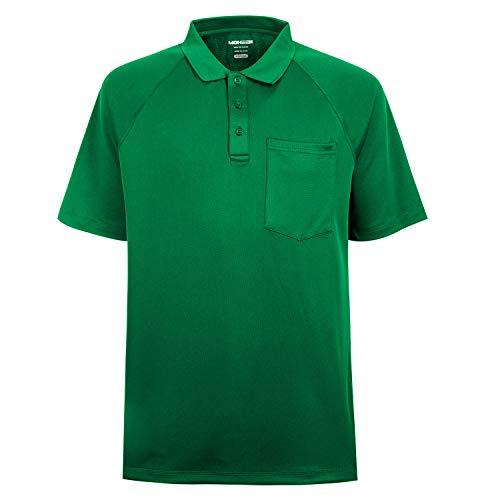 MOHEEN Herren Poloshirt/Funktionsshirt in Übergrößen S bis 6XL - für Sport Freizeit und Arbeit, MEHRWEG (Grün, 2XL)