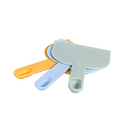 Dough scraper, food grade multi-function scraper,plastic dough knife with handle,used for ice cream, bread, cake, fudge, pizza