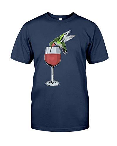 Linkupp Camiseta de vino colibrí