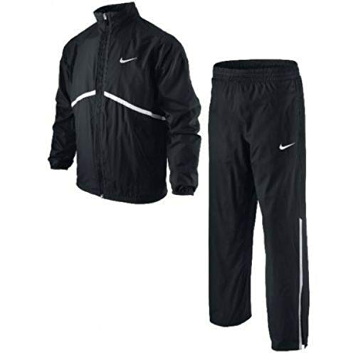 Nike Jungen Tennisanzug N.E.T. Woven Warm Up, Black/White/Black/White, XL, KN700010XL