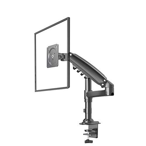 Soporte de brazo para monitor LCD de escritorio, presión de aire hacia arriba y abajo, de aleación de aluminio, marco de 17-27 pulgadas, soporte de brazo de soporte