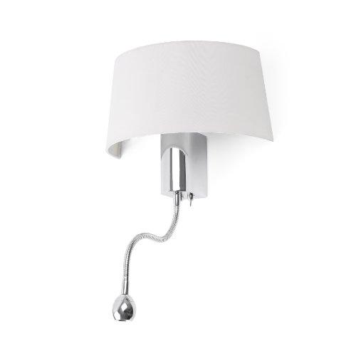 Faro wandlamp met leeslamp LED Hotel - Wit
