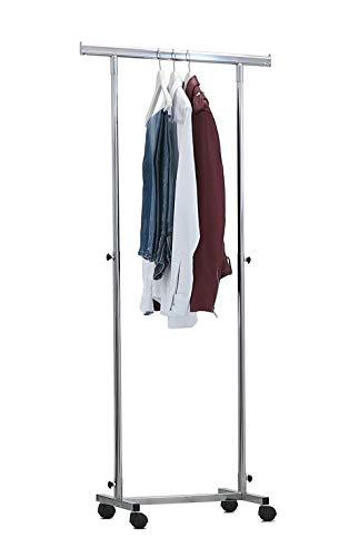 BE.MAR - Perchero de base completa con barra para colgar de 70 + 50 cm, regulable en altura de 110 a 180 cm, soporte perchero ideal para espacios pequeños