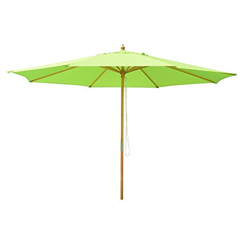 Yescom 13ft XL Outdoor Patio Umbrella w/German Beech Wood Pole Beach...