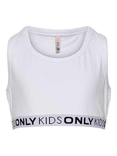 Kids Only Mädchen Sport BH 2er Pack KONLOVE S/L Sport TOP, Farbe:Bright White, Größe:146/152