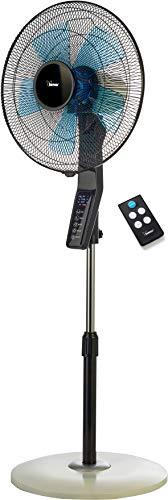 Bimar Silente VPS40 - Ventilatore a Piantana con Telecomando e Timer, Silenzioso, Portatile, da Tavolo, Comandi Elettronici Softtouch, Potente, Funzione Turbo, 3 velocità, Regolabile, Oscillante