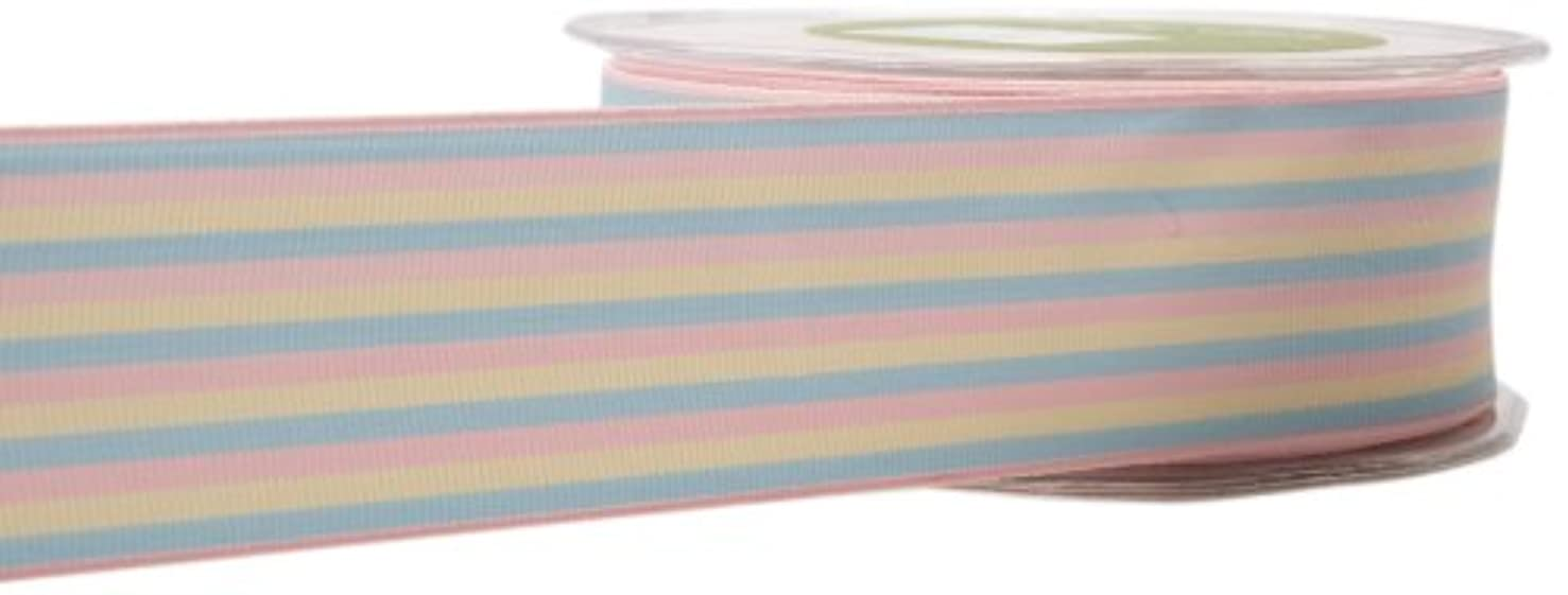 May Arts 1-1/2-Inch Wide Ribbon, Pastel Grosgrain Stripes
