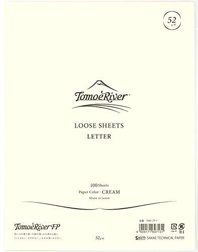 "Tomoe River FP Loose Sheet, Letter Size (8.5 x 11""), 100 Sheets/Pack, Cream (TMR-LTP-Y)"
