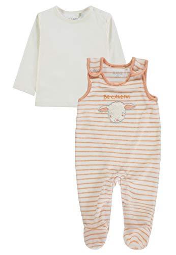 Kanz Baby-Mädchen Strampler + T-Shirt 1/1 Arm Bekleidungsset, Mehrfarbig (Y/D Stripe|Multicolored 0001), (Herstellergröße: 56)