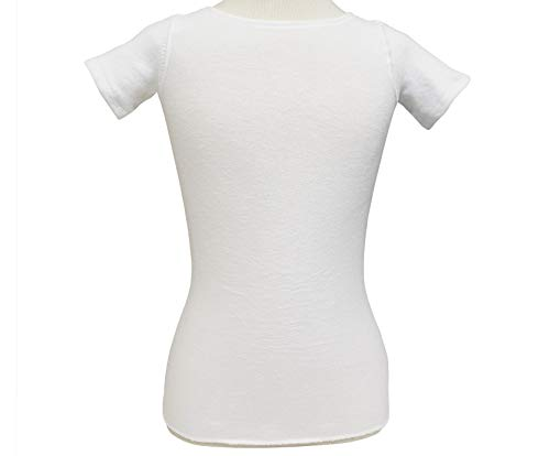 KNIT-RITE Torso Interface Crew Neck with Sleeves - Coolmax (White, Large Long)