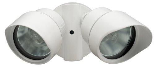 Lithonia Lighting OFTR 200Q 120 LP WH M12 Designer Adjustable Twin Head Flood Light Quartz Halogen, White